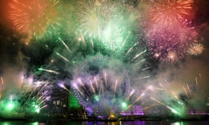 Lack of wind slowed the dispersion of firework smoke throughout London on New Year's Eve.