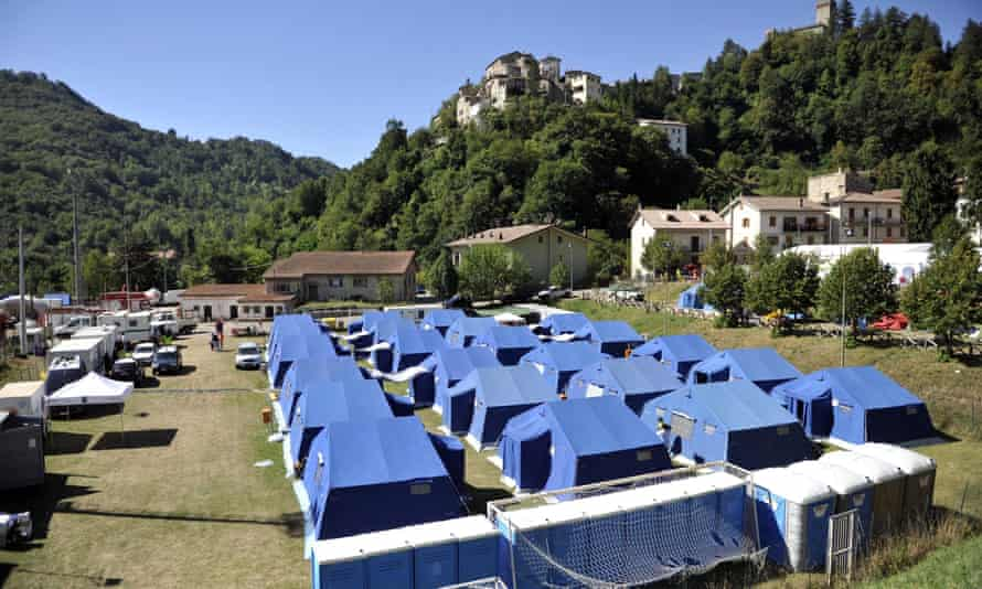 Tent camp in Arquata del Tronto for people displaced by the earthquake
