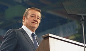 John Wayne in 1968. In 1971 Playboy magazine interview, he said: 'I believe in white supremacy until the blacks are educated to a point of responsibility.'