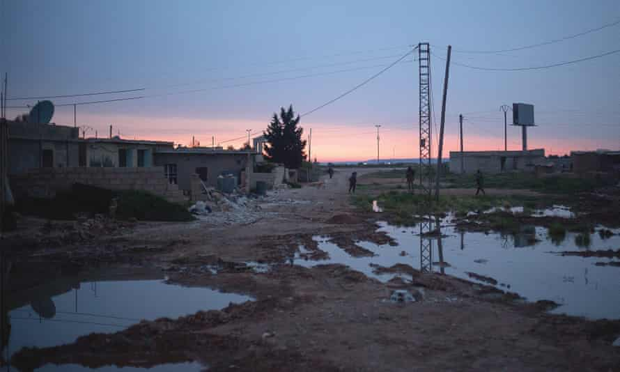 Tal Tamr, in Syria, where Evans spent three months.