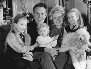 Bruce Forsyth with his first wife, Penny, and daughters Deborah, Julie and Laura at Christmas in t   he 70s.
