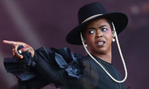 Lauryn Hill performs at this year's Glastonbury