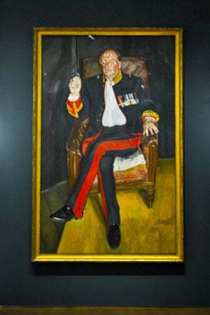 Lucian Freud's The Brigadier will go up for auction on Tuesday.