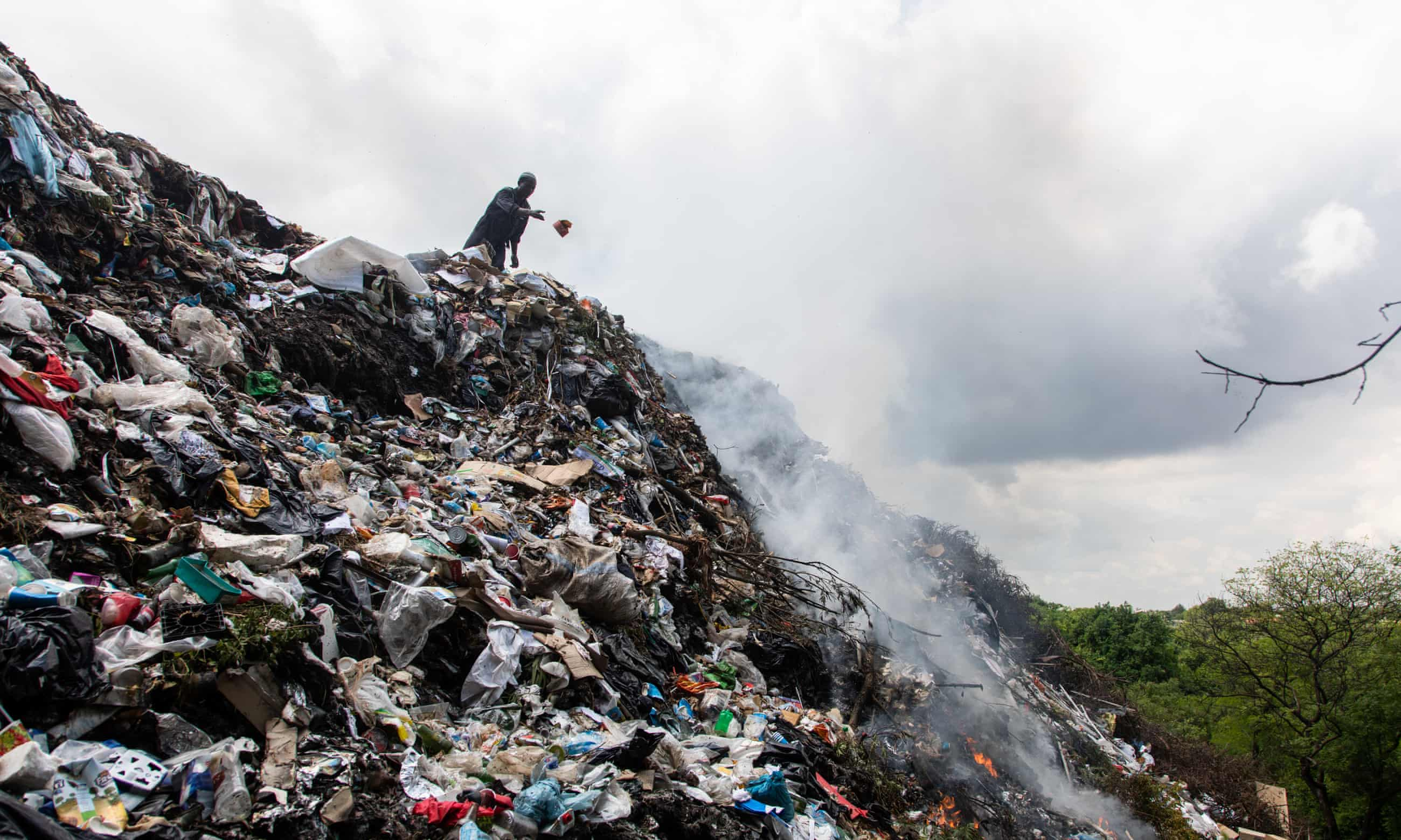 Burning question: plastic pollution scars poorest countries – in pictures