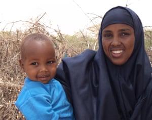 Sadak Hassan Abdi and his mother Hukun.