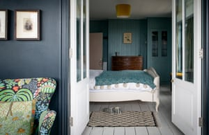 Beach house: a view into the cosy bedroom.
