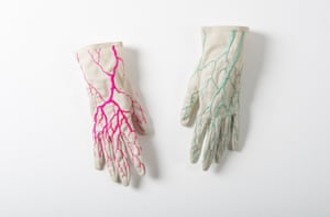 Constructal Gloves, Embroidery on Antique Gloves,