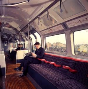 Interior of a 1967 Central line tube, circa 1968