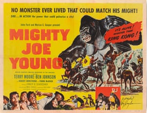 Page 16: Joe Mighty Young (1953) The US Half-sheet for the 1953 re-release, focused on the action sequences