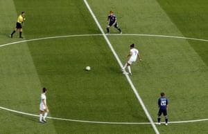 Argentina kick off.