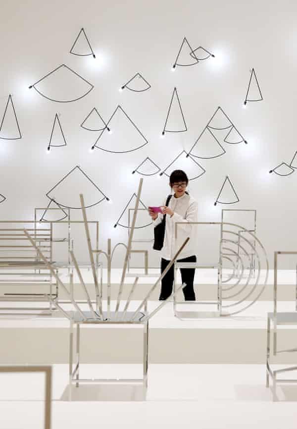 The installation Manga Chairs by Nendo design studio and designed by Oki Sato