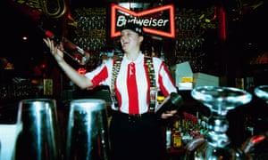 A bartender at TGI Fridays.