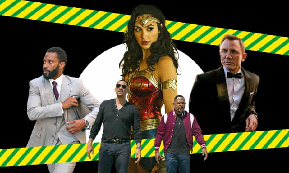 From left: Tenet; Bad Boys for Life; Wonder Woman 1984; No Time to Die.