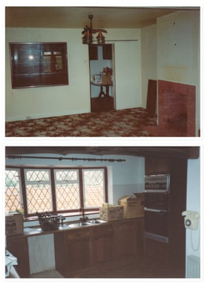The living room and kitchen before the transformation