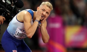 Great Britain's Kyle Langford reacts after finishing fourth in the men's 800m final.