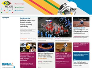 Rio 2016 front page