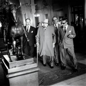 Winston Churchill and Aristotle Onassis