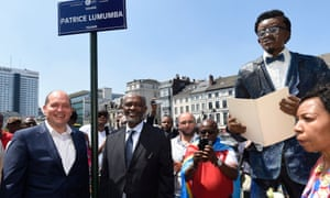 Inauguration of a square in Brussels, dedicated to the memory of Patrice Lumumba, the first prime minister of the Democratic Republic of Congo, after independence from Belgium.