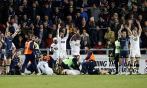 Danny Cipriani was knocked unconscious on Saturday, although later tweeted to say he was OK.