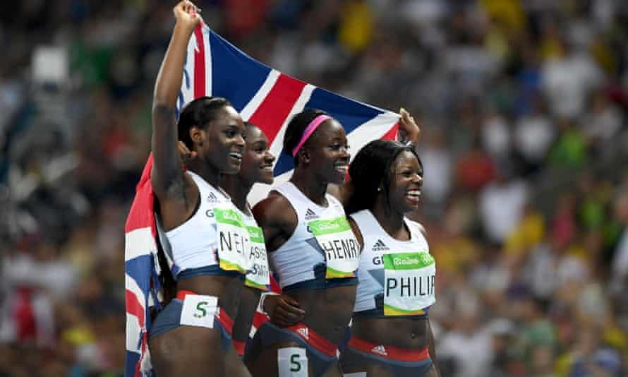 Asha Philip, Desiree Henry, Dina Asher-Smith and Daryll Neita of Great Britain