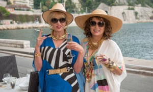 There were so many celebrities in the new Absolutely Fabulous film that if a bomb had dropped on set, it would have been goodbye to Hello! magazine … Joanna Lumley and Jennifer Saunders.