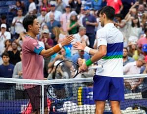Novak Djokovic and Kei Nishikori