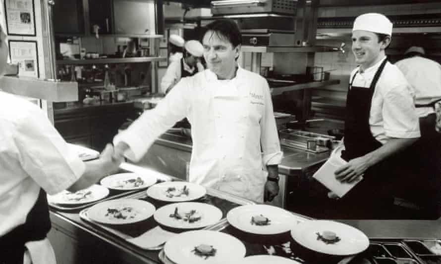 Raymond Blanc at his restaurant in Great Milton, Oxfordshire, in 2002.