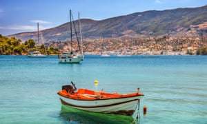 Fishing boat in the waters of Poros, Greece