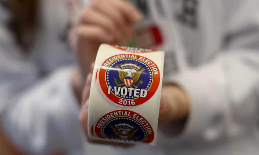 US elections sticker