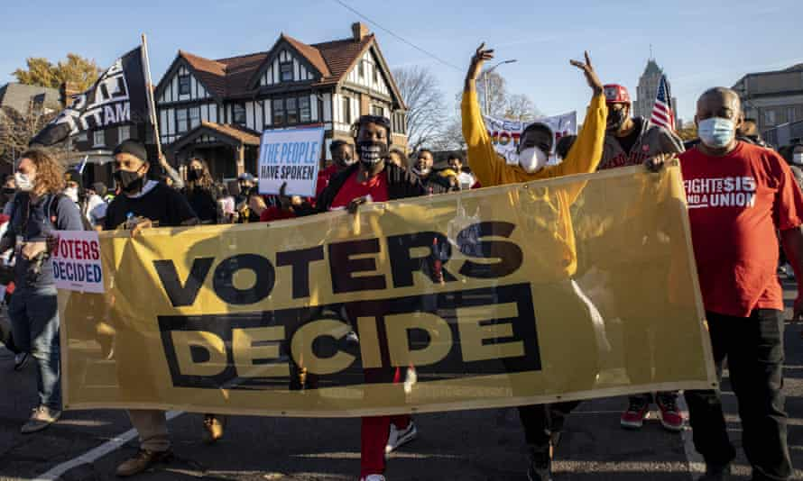 'People came out and stood in line for hours, if necessary, to make sure their vote counted.'