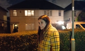 Liberal Democrat candidate Luciana Berger goes door-to-door in Finchley, North London, during the ongoing general election campaign.
