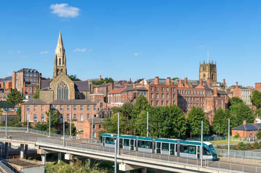 Nottingham's Lace Market skyline