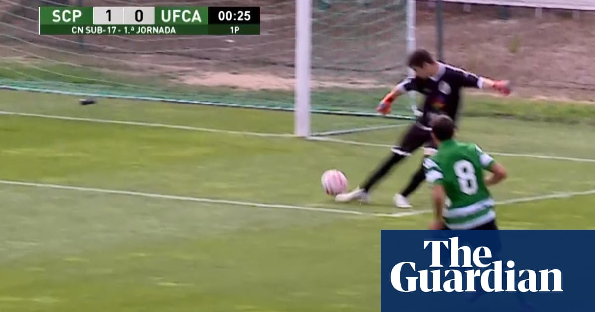 Goal start: Sporting under-17s score opener without touching the ball – video