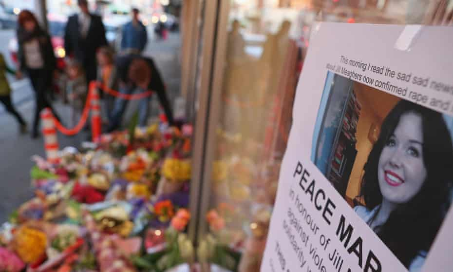 Floral tributes to Jill Meagher
