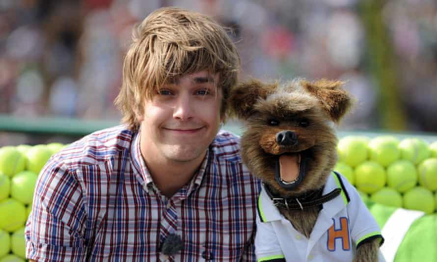 Dog days ... Stirling (left) and Hacker T Dog.