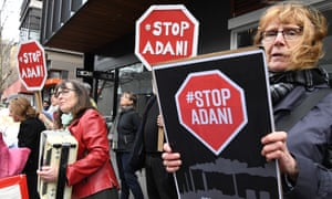 Protesters against the Adani coalmine