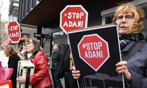 Galilee Blockade protesters gather outside Bill Shorten's office in Moonee Ponds, Melbourne