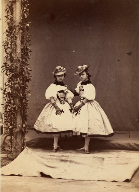 Princess Helena and Princess Louise, April 1859.