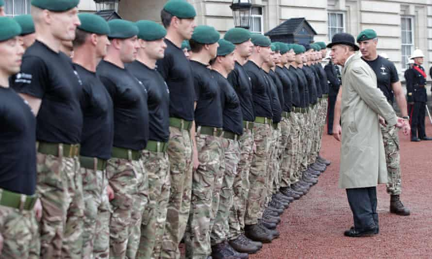 The Duke of Edinburgh attending the Captain General's Parade as his final individual public engagement, at Buckingham Palace in London.