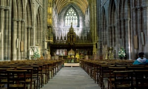 Chester Cathedral. The allegations date from when Whitsey was bishop of Chester and from when he had retired.