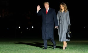 Trump and Melania arrive at the White House.