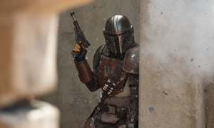 Bringing back the lost art of patience ... The Mandalorian (Pedro Pascal) in Disney's adaptation.