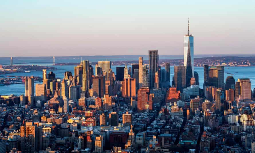 Lower Manhattan as seen from the Empire State Building. The 1,200ft Penn 15 building would include 27 landscaped terraces, according to the developer, Vornado Realty Trust, and 57 floors of office space.
