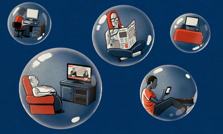 Illustration of political tries floating in bubbles, by Ben Jennings