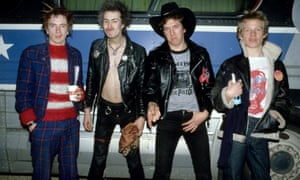 The Sex Pistols in January 1978 on their only US tour.