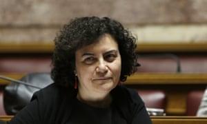 Nadia Valavani resigned on Wednesday.