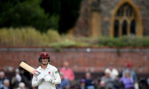 Tom Abell in action for Somerset.