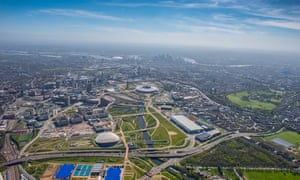 The Queen Elizabeth Olympic Park seen from 3,000ft last year.