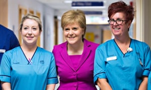 Nicola Sturgeon unveiling the capital projects initiative at the Golden Jubilee National Hospital in Clydebank.