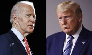 Presidential rivals Joe Biden and Donald Trump.